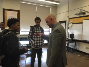 Bassick Alum Virgilio Lopez answers 9th grader questions