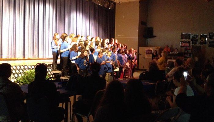 West Side Middle School Community Day choir