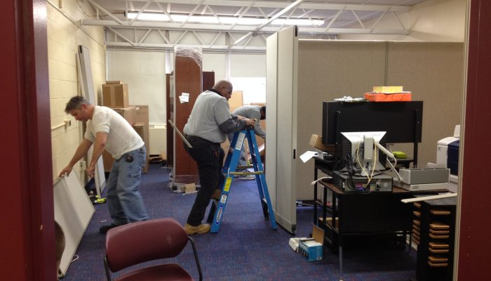 The Insalco team gets the O'Brien Family Resource Center set up