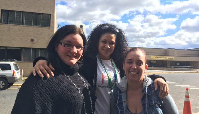 West Side Parent Liaison, Jassie Myers with parent leaders