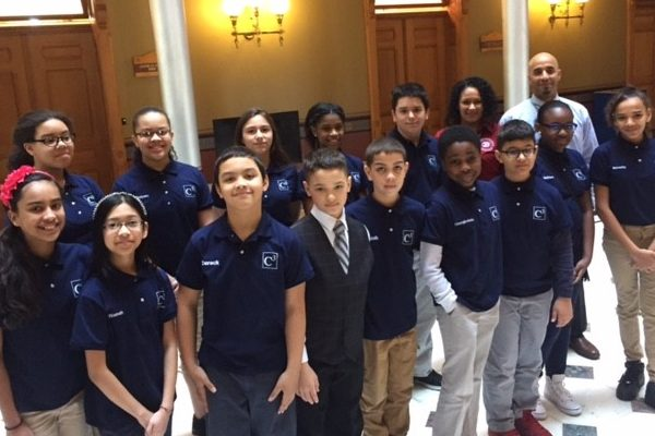 C3 school brings students to CT state capitol march 2017