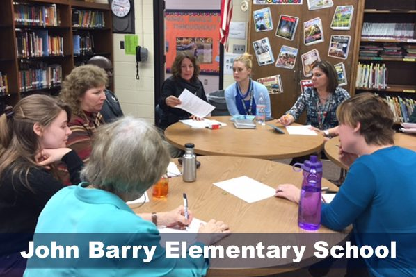 Staff meeting at John Barry Elementary School