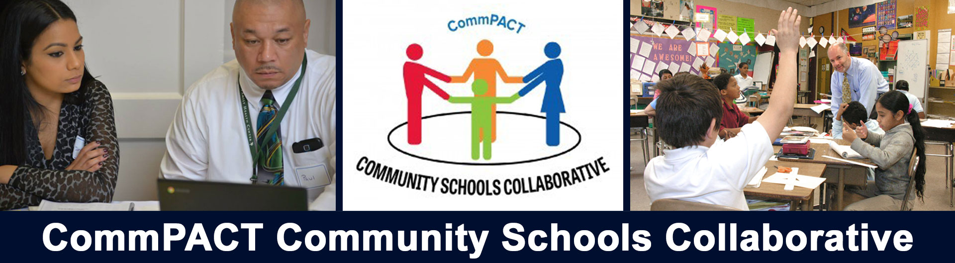 Homepage banner displaying CommPACT community members in action + CommPACT logo